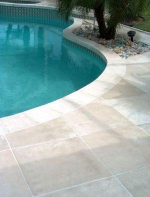 travetine pavers pool decking austin tx